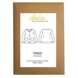 Patron Ikatee Vega Gilet Maille - 1 mois à 4 ans