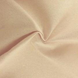 Tissu toile polycoton Cubex - rose clair x 10cm