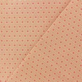 Tissu coton cretonne Saki - corail x 10cm