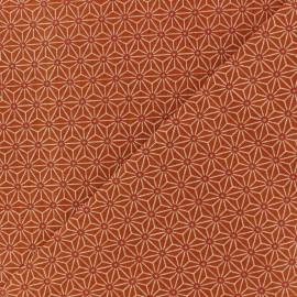 Tissu coton cretonne Saki - Terracotta x 10cm