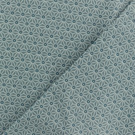 Cretonne cotton fabric - Thunderstorm grey saki x 10 cm