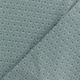 Tissu coton cretonne Saki - gris Orage x 10cm