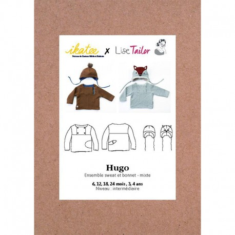 Sweater & Hat Ensemble Sewing pattern - Ikatee Hugo