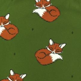 Tissu jersey Bloome Copenhagen Be Foxy - vert foncé x 10cm