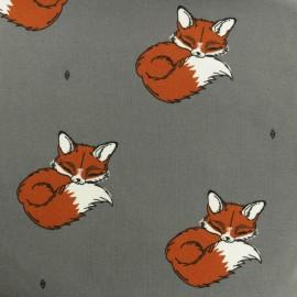 Tissu jersey Bloome Copenhagen Be Foxy - gris x 10cm