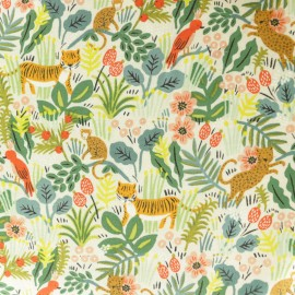 Tissu coton Cotton Steel Rifle Paper Co. Menagerie tigre - écru x 30cm