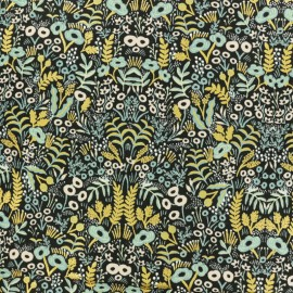 Menagerie Cotton Steel Cotton fabric - Tapestry midnight x 10cm