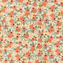 Tissu coton Cotton + Steel Rifle Paper - Petites fleurs - rose x 10cm