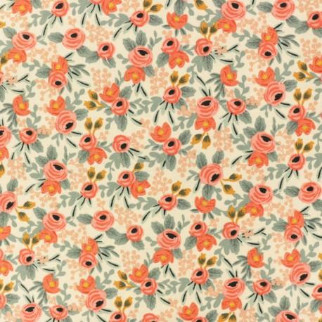 Cotton + Steel cotton fabric x Rifle Paper Co - pink Petites fleurs x 10cm