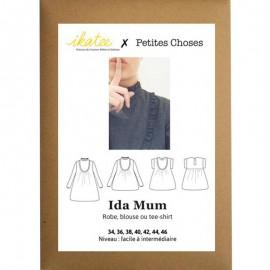 Patron Ikatee Ida Mum Robe, Blouse ou T-Shirt - 34 à 46