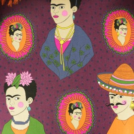 Alexander Henry cotton fabric -eggplant Frida x 45cm