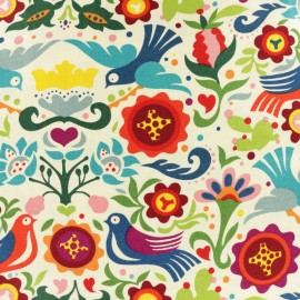 Alexander Henry cotton fabric - Raw La Paloma x 20cm