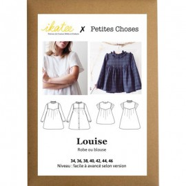 Blouse & Dress Sewing pattern - Ikatee Louise Mum