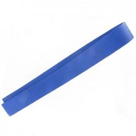 Leather strip bag-handles, China - blue