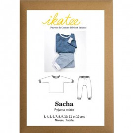 ce4519e5b0e Patron Ikatee Sacha Pyjama Mixte - 3 à 12 ans