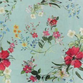 Tissu Viscose Kimono - bleu ciel x 10cm