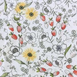 Tissu Viscose Avril - blanc x 10cm