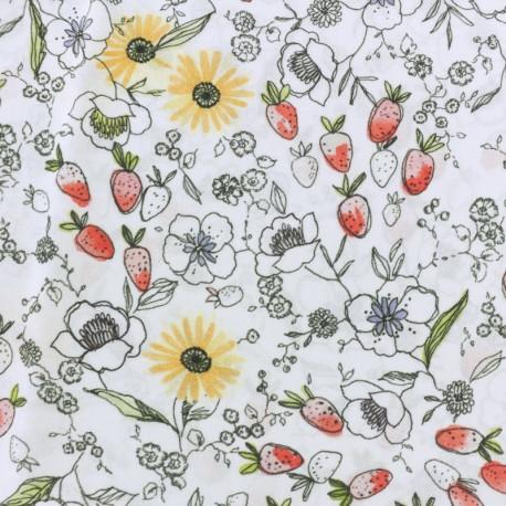 Viscose Fabric - white Avril x 10cm