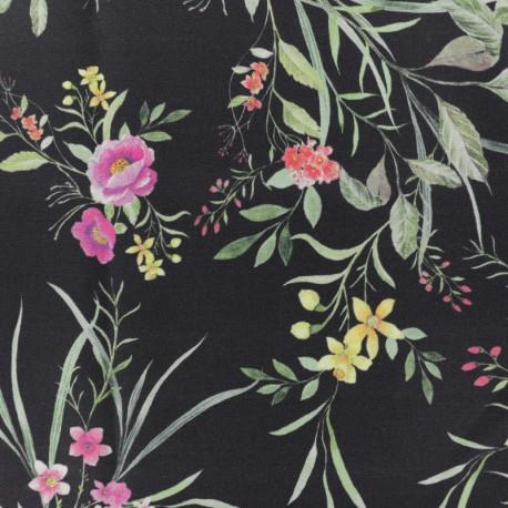 Twill Viscose Fabric - black May x 10cm