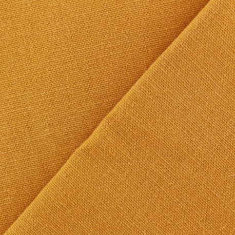 Cotton fabric half braided Vintage -  mustard yellow x 10cm