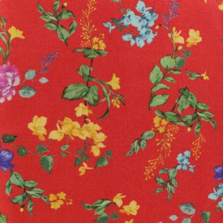 Twill Viscose Fabric - red July x 10cm