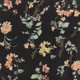 Twill Viscose Fabric - Black July x 10cm