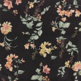 Twill Viscose Fabric - Black July x 10cm