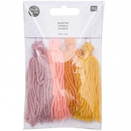 Pack of 4 Tassels - Sunset