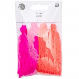 Pack of 4 Tassels - Neon