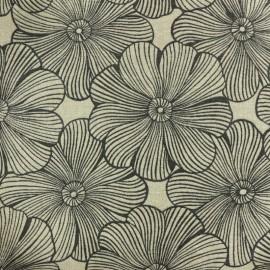Polycotton fabric - Garden Diva - natural/black x 10cm