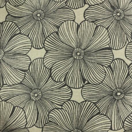 Tissu polycoton - Diva du jardin - Naturel (Grande largeur) x 25cm