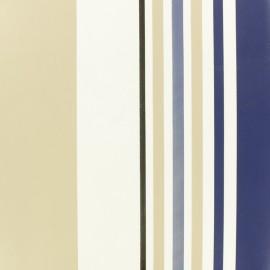 ♥ Coupon 50 cm X 140 cm ♥ Tissu toile cirée à rayures Oléron - bleu