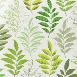 Tissu toile cirée Rameaux - vert x 10cm