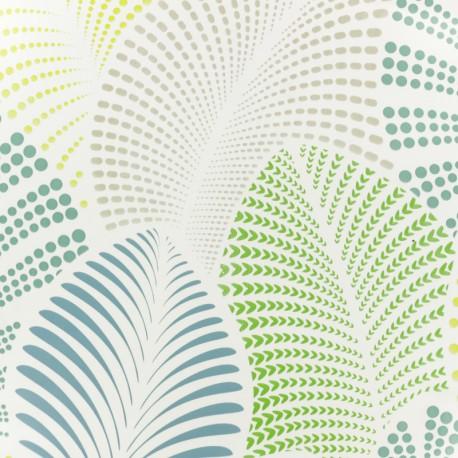 Tissu toile cirée Feuillage - vert x 10cm