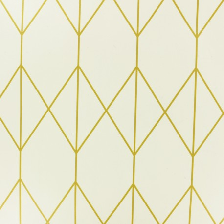 Tissu toile cirée Ally - argent x 10cm