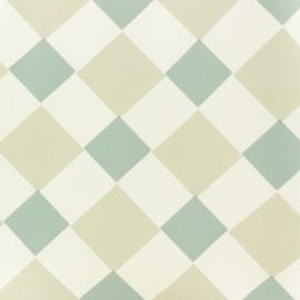 Tissu toile cirée Double jeu - bleu/gris x 10cm