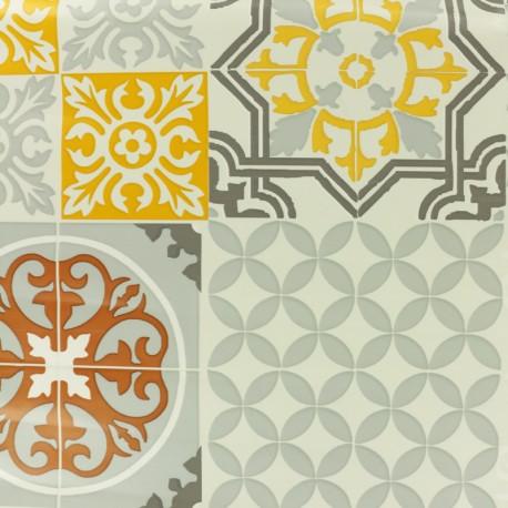 Tissu toile cirée Sintra - gris x 10cm