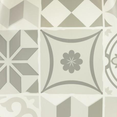 Tissu toile cirée Bulgomme Chevron - Argent x 10cm