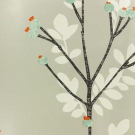 Tissu toile cirée Bourgeon - gris x 10cm