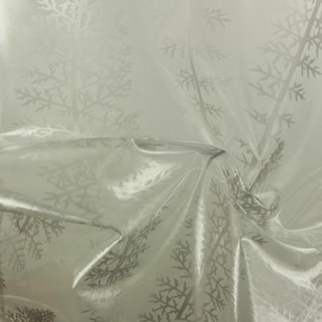 Cristal transparent 15/100  Fougère - argent x 50cm