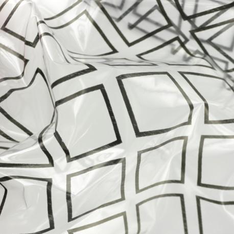 15 gauge clear vinyl fabric - Black Diamond  x 50cm