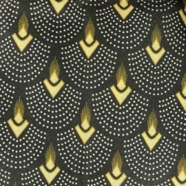 Tissu polycoton enduit mat - Horta - noir x 10cm