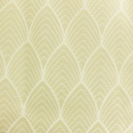 Matte coated Polycotton fabric - Beige Matyn x 10cm