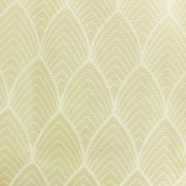 Tissu polycoton enduit mat - Matyn - beige x 10cm