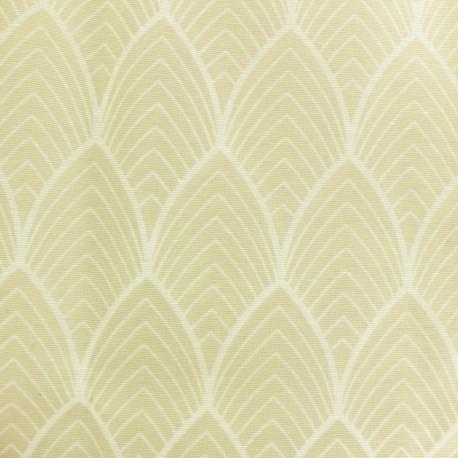 Matte coated Polycotton fabric - Beige Matyn x 10cm