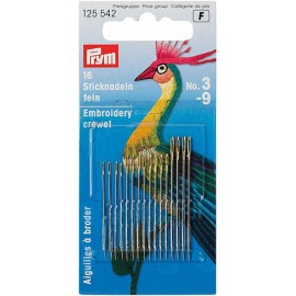 16 Prym Embroidery Crewel No.3-9