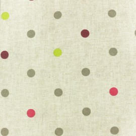 Matte coated Polycotton fabric - Beige Lisette x 10cm