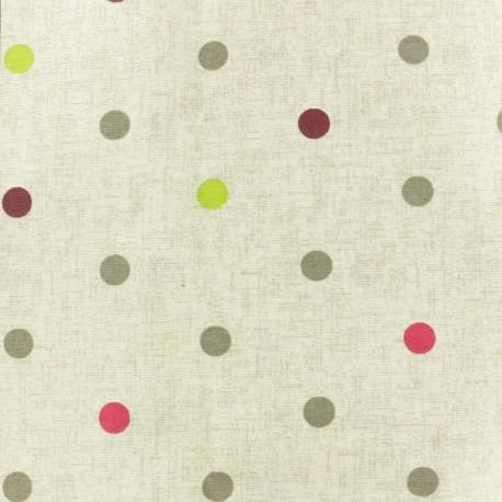 Tissu polycoton enduit mat - Lisette - beige x 10cm