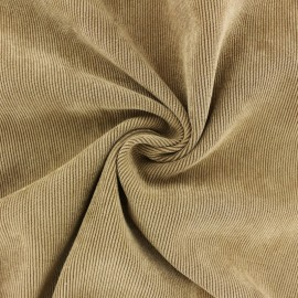 Tissu velours côtelé fluide Billie - Havane x 10cm
