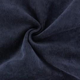 Tissu velours côtelé fluide Billie - bleu nuit x 10cm